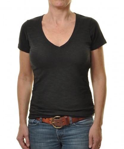 RAGWOMAN Damen Flammgarn Shirt mit V-Neck