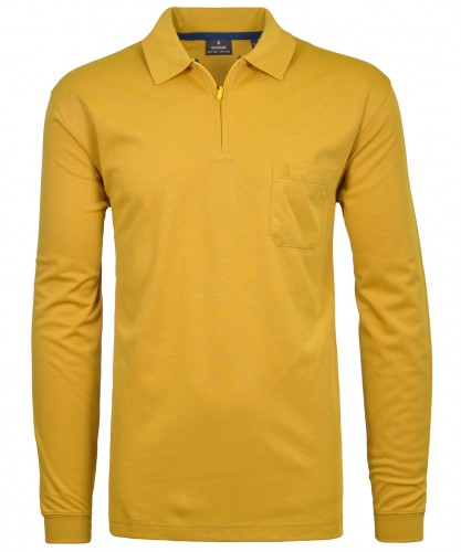 RAGMAN Softknit-Poloshirt with long sleeve