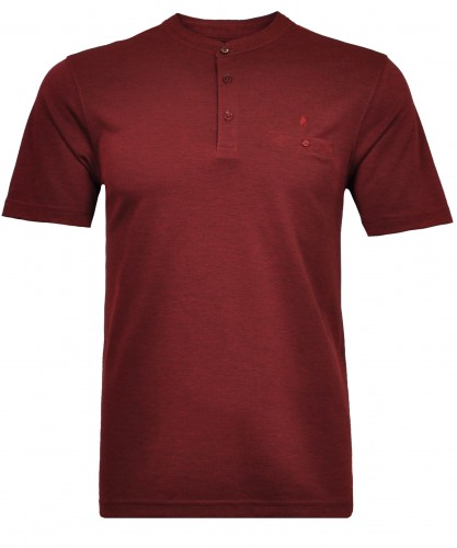 Softknit-Polo with stand up collar
