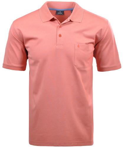 RAGMAN Kurzarm Softknit Poloshirt Rot