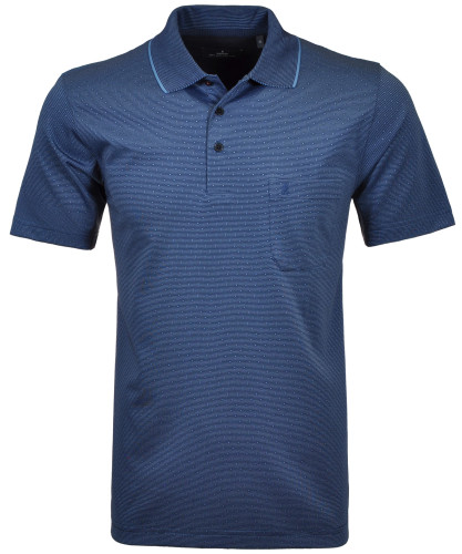 Softknit-Polo with minimal design and stripes