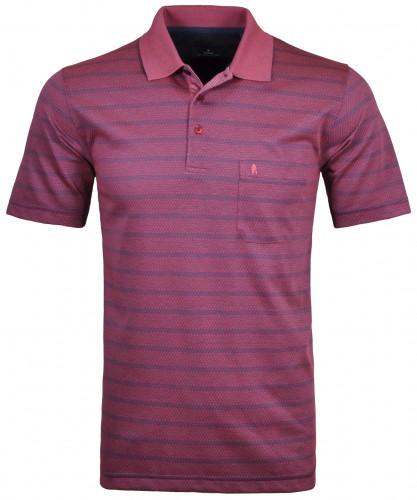 Softknit Streifen-Poloshirt triangle  Beere-683