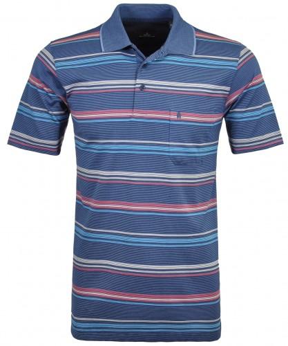Softknit Streifen-Poloshirt multi