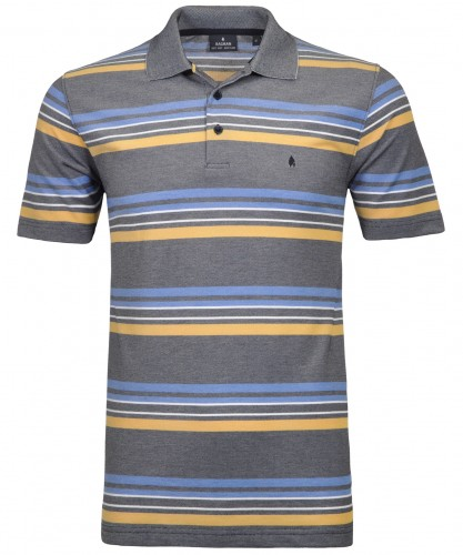 RAGMAN Softknit-Polo gestreift