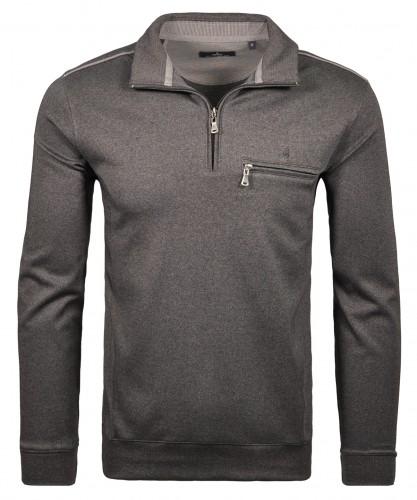 Sweatshirt Troyer mit Brusttasche
