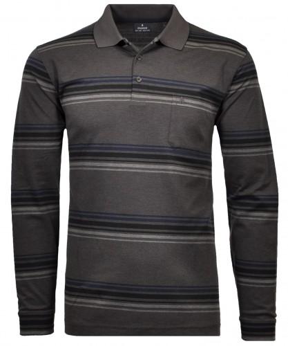 Langarm Poloshirt mit Jaquard-Muster