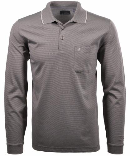 RAGMAN Softknit-Polo with dots, long sleeve