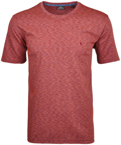 Softknit-T-Shirt with round neck and flame optic