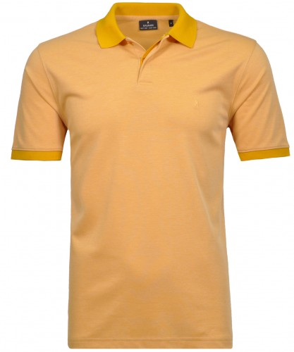 Polo button with solid collar