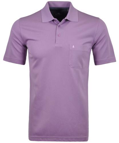 Softknit Poloshirt mit minimal Dessin