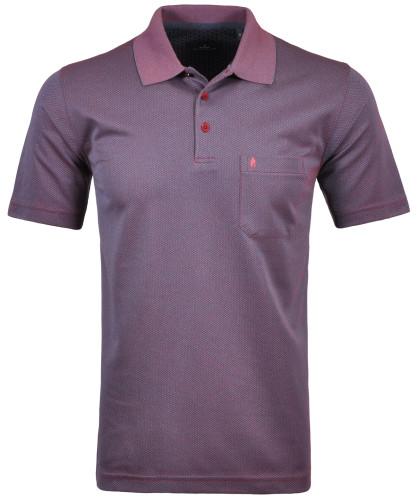 Softknit Poloshirt mit minimal Dessin Beere-683