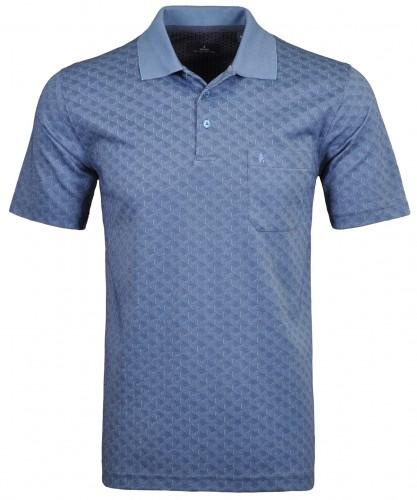 Softknit Poloshirt Jacquard geometric