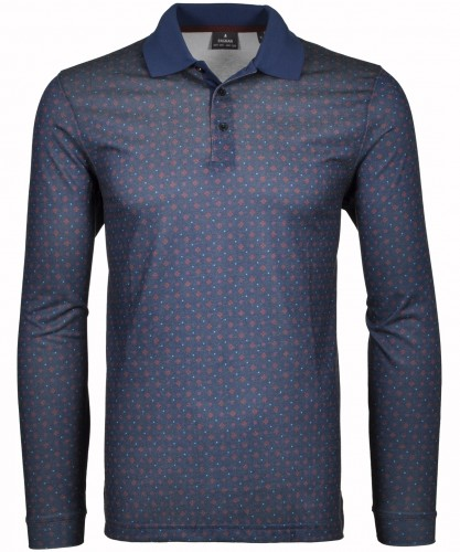 "RAGMAN Softknit-Polo ""Space diamond"" Dunkelblau-711"