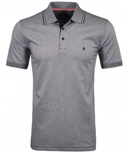 Softknit Streifen-Poloshirt vertikal