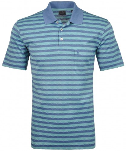 Softknit Poloshirt Jacquard gestreift