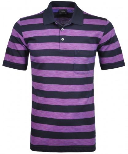 Softknit Streifen-Poloshirt space dyed