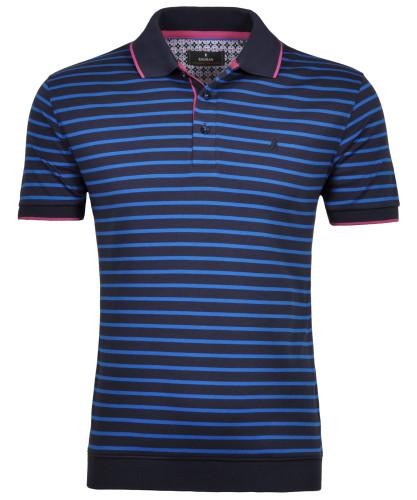 RAGMAN Piqué-Poloshirt with stripes