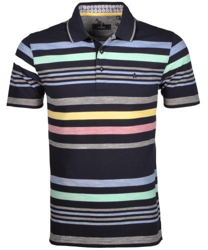RAGMAN Piqué-Polo with stripes