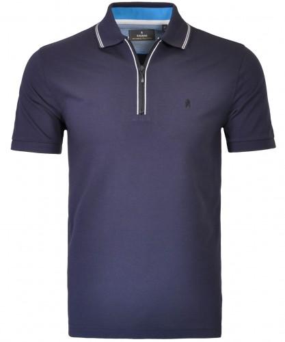 Piqué-Poloshirt mit RV und Tipping