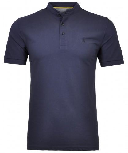 RAGMAN Piqué-Shirt with small stand up collar