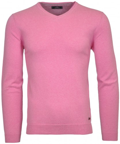 Strickpullover uni, V-Neck