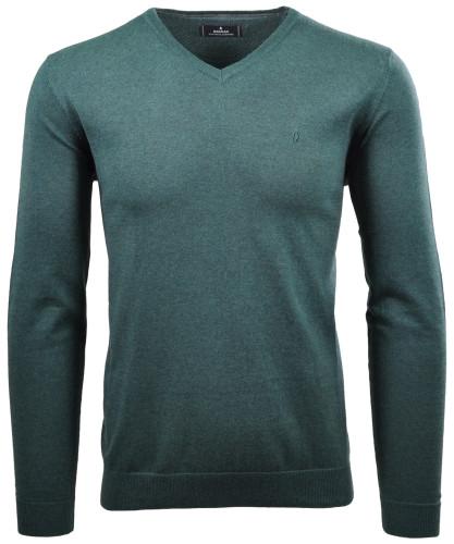 V-Ausschnitt Pullover aus feinstem Baumwollmix