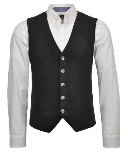 RAGMAN knitted vest, bicolour