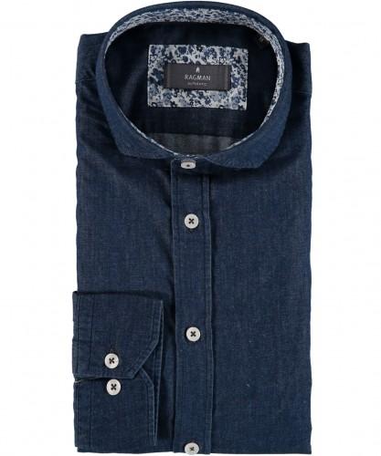 Langarm Jeans-Hemd