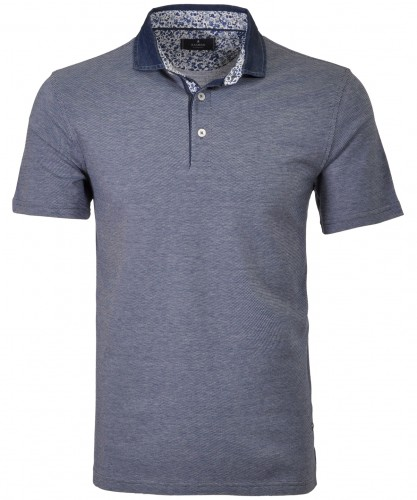 Bicolour Polo Denim collar