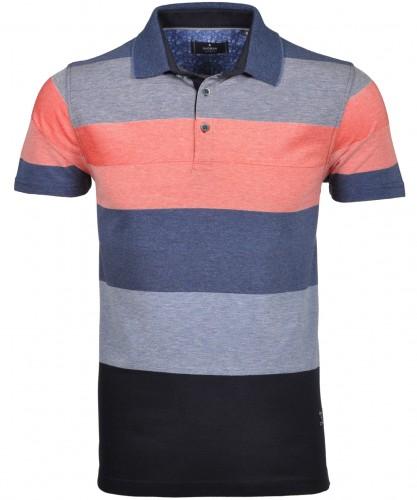 RAGMAN Poloshirt with stripes