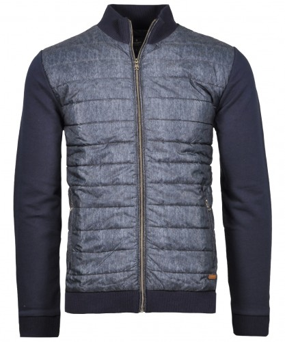 Sweat-Jacket with stand up collar and zip