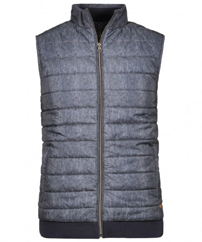 Vest with stand up collar