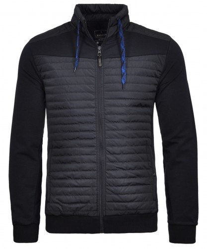 Sweatjacket with stand up collar