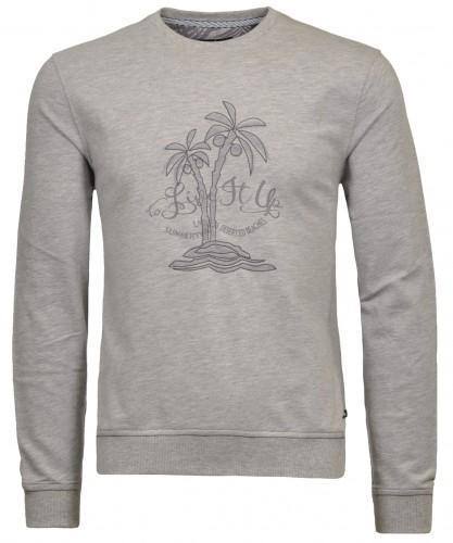 Rundhals-Sweater mit Artwork