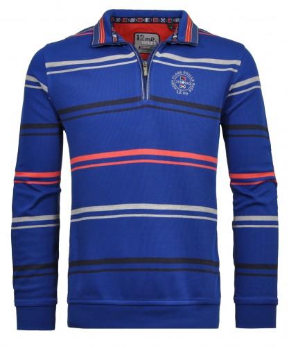 Streifen-Sweater mit Stehkragen
