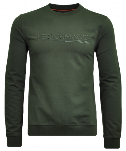 Round neck sweat with chest application