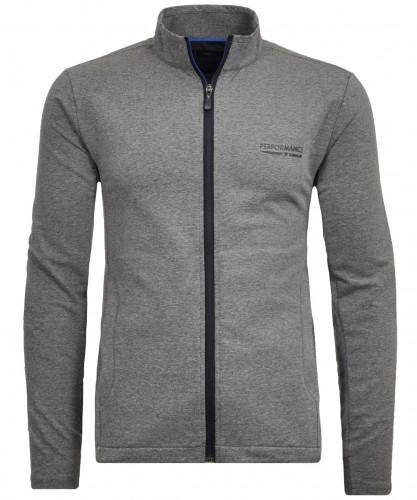 Sweat-Cardigan mit Zip-Taschen