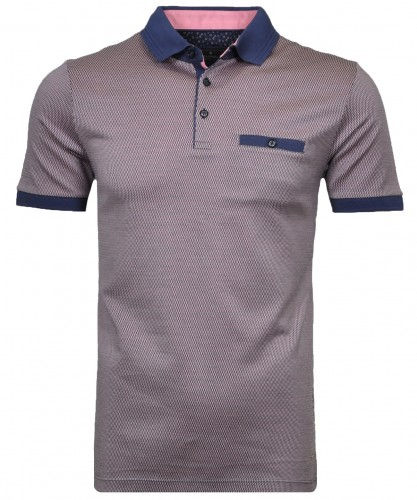 RAGMAN  Polo tricolor with minimal-design
