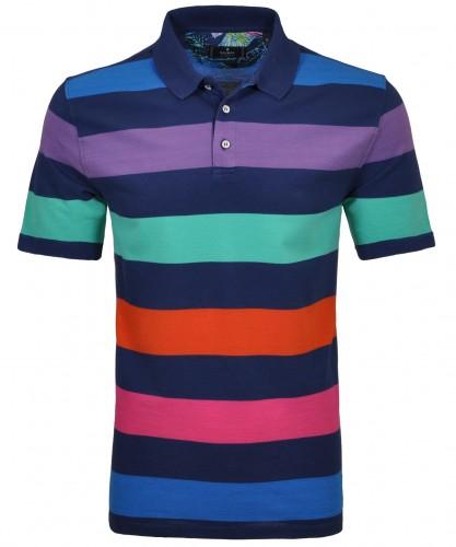 Gestreiftes Poloshirt multicolour Blau