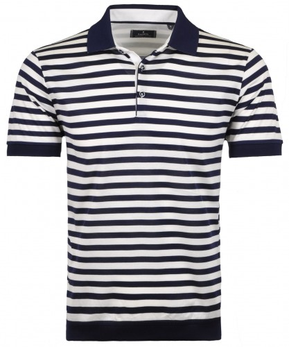 Striped Polo button mercerised