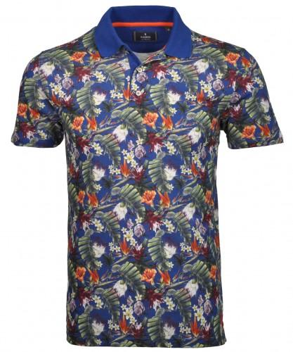 RAGMAN Poloshirt mit Hawai-Print Blau/Floral-900