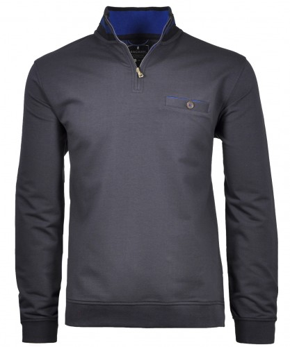 Sweatshirt with stand up collar