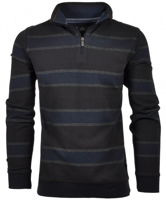 RAGMAN Sweatshirt with Troyer, striped