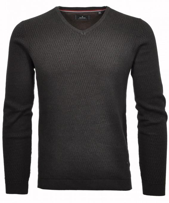 RAGMAN Pullover V-Neck mit Struktur