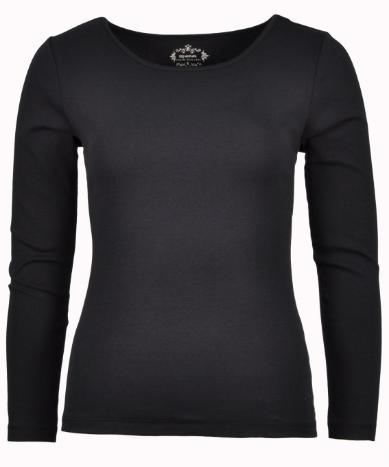 T-Shirt with boat neckline